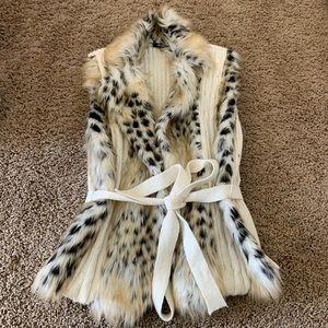 XOXO fur vest size large
